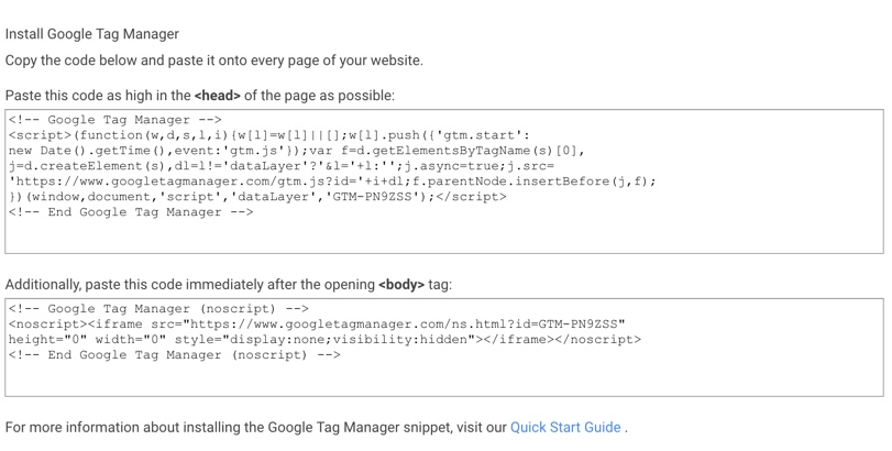 Google Tag Manager - implementering af Container script